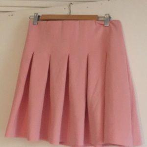 Zara pink pleated skirt